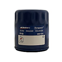 AC Delco PF48F Oil Filter - Canister, Direct Fit, Sold individually