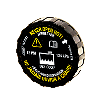 RC104 Coolant Reservoir Cap - Direct Fit, Sold individually