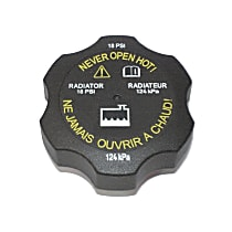 RC111 Radiator Cap - Round, 18 lbs., Black, Plastic, Sold individually