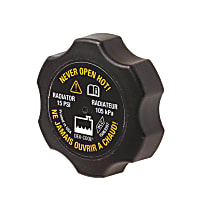 RC85 Radiator Cap - Round, 15 lbs., Black, Plastic, Sold individually