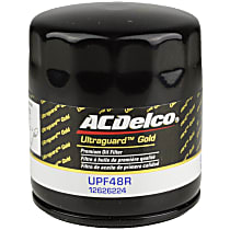 AC Delco UPF48R Oil Filter - Canister, Direct Fit, Sold individually
