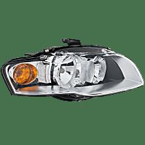 Passenger Side Halogen Headlight, With bulb(s) - B7 Body Code