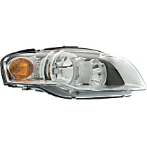 Passenger Side Halogen Headlight, With bulb(s) - B7 Body Code, CAPA CERTIFIED