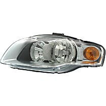 Driver Side Halogen Headlight, With bulb(s) - B7 Body Code, CAPA CERTIFIED