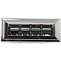 Window Switch - Front, Driver Side, Chrome, 4-Button