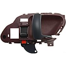 Interior Door Handle - Front, Passenger Side, Red Bezel with Black Lever