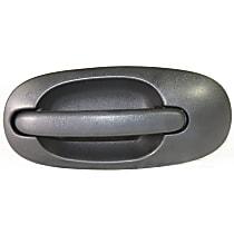 Rear, Passenger Side - Side Sliding Door Exterior Door Handle, Textured Black