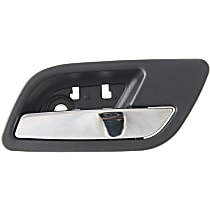 Rear, Passenger Side Interior Door Handle, Black bezel with chrome lever