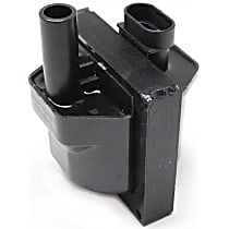 Ignition Coil - 6/8 Cylinders, 4.3/5.0/5.7 Liter Engines, Square, Female/Socket Wire Attachment Style