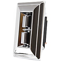 Window Switch - Front, Driver Side, Chrome, 2-Button, with Bezel and Trim Plate