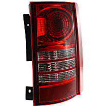 Passenger Side Tail Light, With bulb(s) - Clear & Red Lens, CAPA CERTIFIED