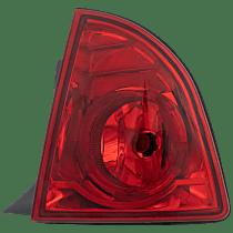 Passenger Side, Outer Tail Light, With bulb(s) - Red Lens, Hybrid/LS/LT Models