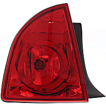 Driver Side, Outer Tail Light, With bulb(s) - Red Lens, Hybrid/LS/LT Models