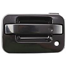 Front, Driver Side Exterior Door Handle, Smooth Black
