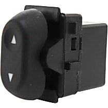 Window Switch - Front Passenger Side, Rear Driver or Passenger Side, Black, 1-Button