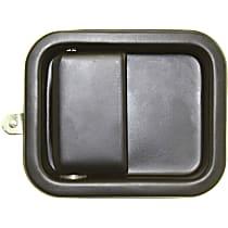 Exterior Door Handle, Smooth Black, Full Door Type