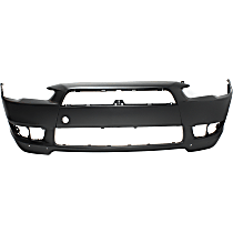 Front Bumper Cover, Primed - w/ Air Dam Holes, Standard Type, Except Evolution Model