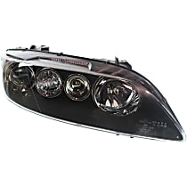 Passenger Side Halogen Headlight, Without bulb(s) - Sport Type, Clear Lens, Black Interior