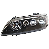 Driver Side Halogen Headlight, Without bulb(s) - Sport Type, Clear Lens, Black Interior