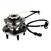 Front Wheel Hub Bearing Assembly Driver or Passenger side, For 4WD with 4-Wheel ABS