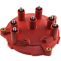 Distributor Cap - Red, Direct Fit. Sold Individually