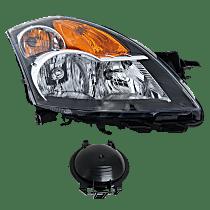 Sedan/Hybrid, Passenger Side Halogen Headlight, With bulb(s)