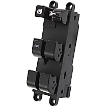 Window Switch - Front, Driver Side, Black, 6-Button