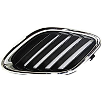 Grille Assembly - Chrome Shell with Painted Black Insert, Passenger Side