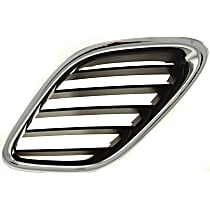 Grille Assembly - Chrome Shell with Painted Black Insert, Driver Side