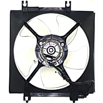 OE Replacement A/C Condenser Fan - Fits 4cyl, Non-Turbo, Passenger Side