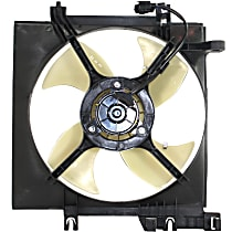 OE Replacement Radiator Fan - Fits 4cyl, Non-Turbo, Driver Side