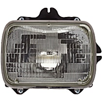 Headlight - Passenger Side, Sealed Beam, With Bulb(s)