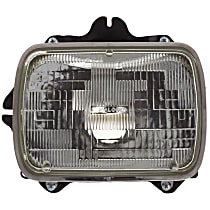 Headlight - Driver Side, Sealed Beam, With Bulb(s)