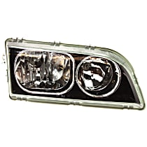 Headlight - Passenger Side, 2003-2004 Style, Black Trim, With Bulb(s)