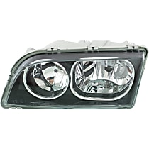 Headlight - Driver Side, 2003-2004 Style, Black Trim, With Bulb(s)