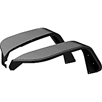 1500203 Front, Driver and Passenger Side Jeep Series Fender Flares, Powdercoated Textured Black