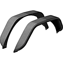 2500203 Rear, Driver and Passenger Side Jeep Series Fender Flares, Powdercoated Textured Black