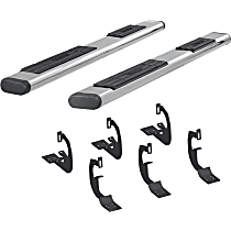 Aries 6in Side Bars Polished Nerf Bars, Covers Cab Length - Set of 2
