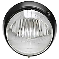 Headlight Assembly H-4 (European with Black Rim) - Replaces OE Number 911-631-113-02