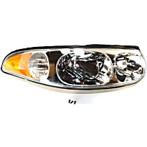 Passenger Side Headlight, With bulb(s) - With Smooth High Beam Surface
