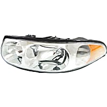 Driver Side Headlight, With bulb(s) - With Smooth High Beam Surface