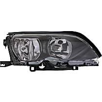 Headlight - Passenger Side, For Sedan or Wagon, Black Trim, With Bulb(s)