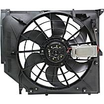 OE Replacement Radiator Fan - Mounts on Radiator, w/ Manual Transmission Only
