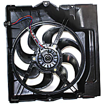 OE Replacement A/C Condenser Fan - Fits 6cyl, Mounts Behind Grille