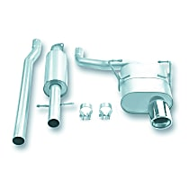 140030 Touring Series - 2002-2007 Mini Cooper Cat-Back Exhaust System - Made of 304 Stainless Steel