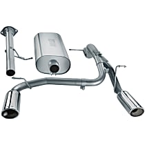 140258 Touring Series - 2007-2008 Hummer H2 Cat-Back Exhaust System - Made of 304 Stainless Steel