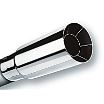 Borla 20102 Exhaust Tip - Polished, Stainless Steel, Single, Universal, Sold individually