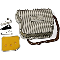 B&M 10280 Transmission Pan - Natural, Cast Aluminum, Deep, Direct Fit, Sold individually