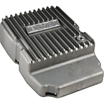 B&M 10300 Transmission Pan - Natural, Cast Aluminum, Deep, Direct Fit, Sold individually
