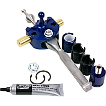 45135 B&M Precision Sport Short Shifter Shifter - Stainless steel and blue anodized aluminum, Stainless Steel and Billet Aluminum, Manual, Direct Fit, Kit